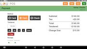 LOU retail pos payment screen
