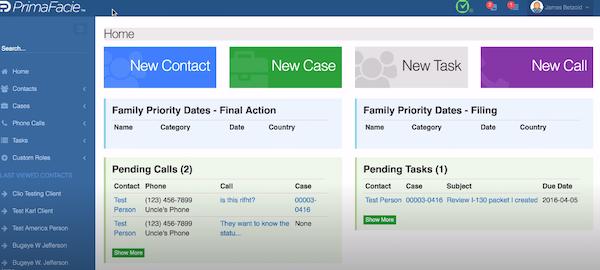PrimaFacie home page