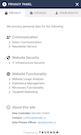 TRUENDO privacy panel screenshot