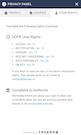 TRUENDO privacy panel rights screenshot