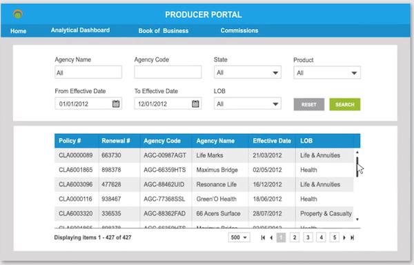 Producer portal