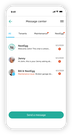 Chat with your tenants or NestEgg's local experts in the Message Center section
