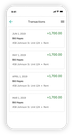 NestEgg automatically keeps track of income and expenses in the Transactions section