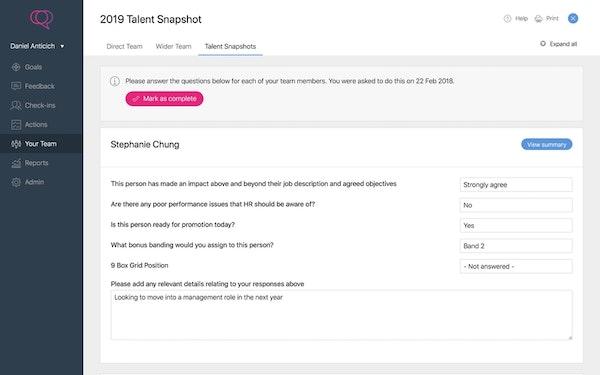 Clear Review talent screenshot