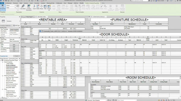 Revit project scheduling