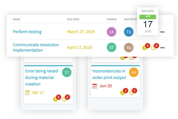 Project status tracking