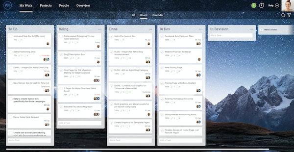Projectmanager.com Kanban board
