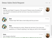 Projectmanager.com task commenting and collaboration