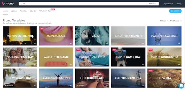Promo.com template library