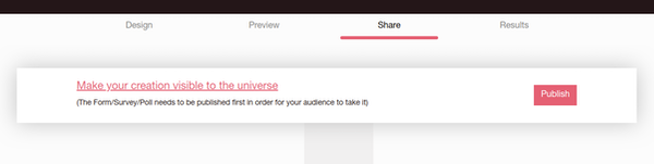 BlockSurvey publishing screenshot