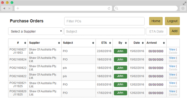 BlinQ purchase orders