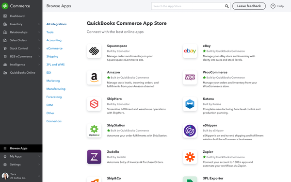 QuickBooks Commerce add-on apps