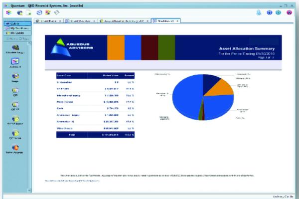 Broadridge Investment Accounting dashboard
