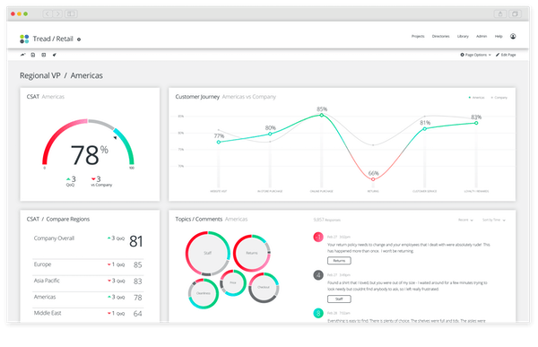 Qualtrics CustomerXM customer insight screenshot
