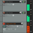 REAPER audio track recording