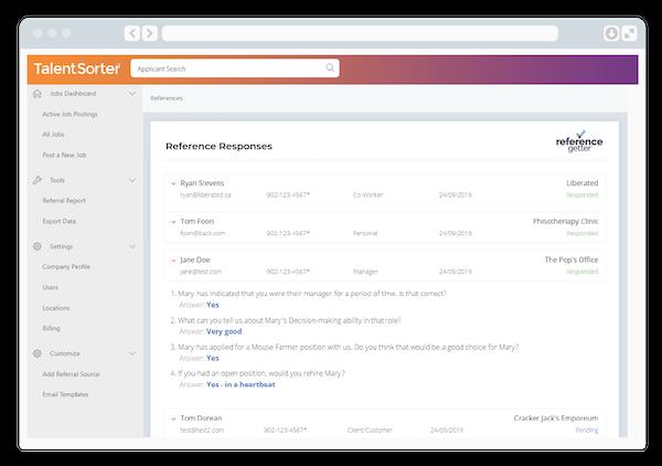 TalentSorter reference management