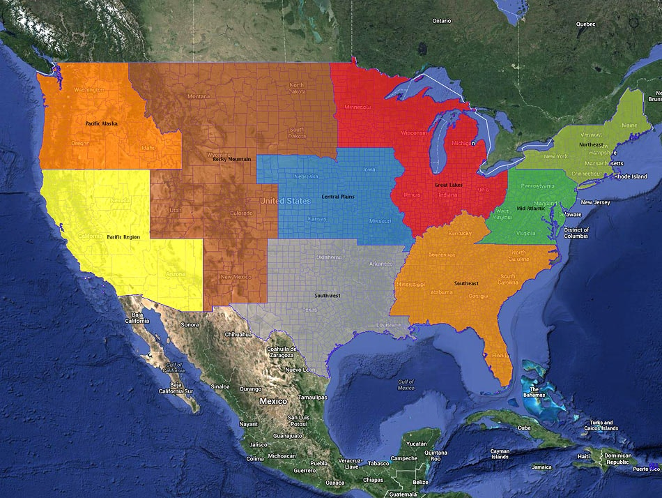 Refine territories by zip code or countries