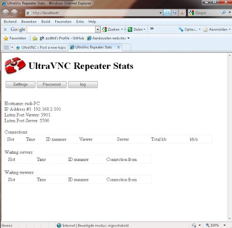 Ultra VNC repeater stats