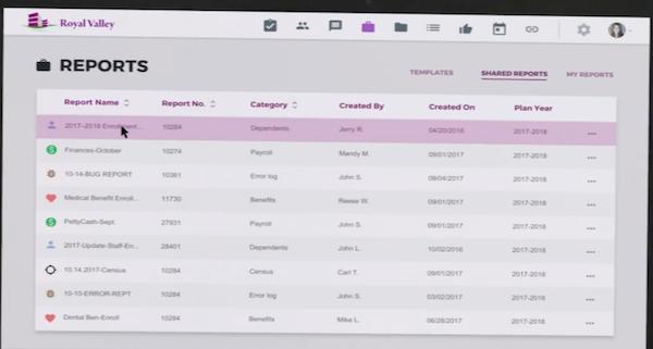 eBenefits reports screenshot.