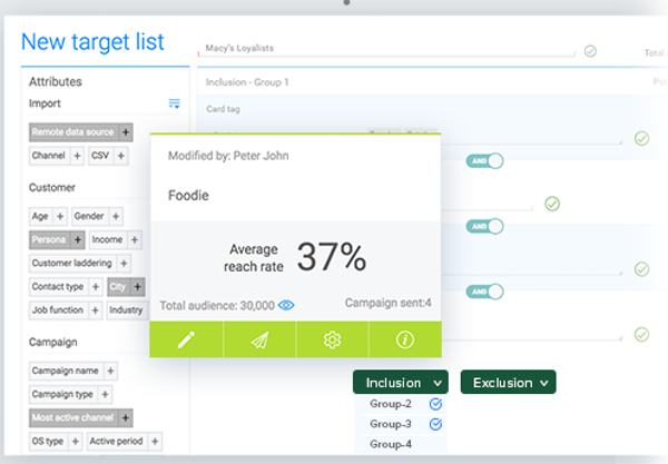 Resulticks advanced segmentation screenshot