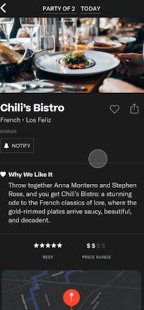ResyOS restaurant information