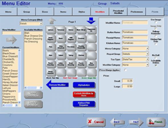 Revention POS menu editor