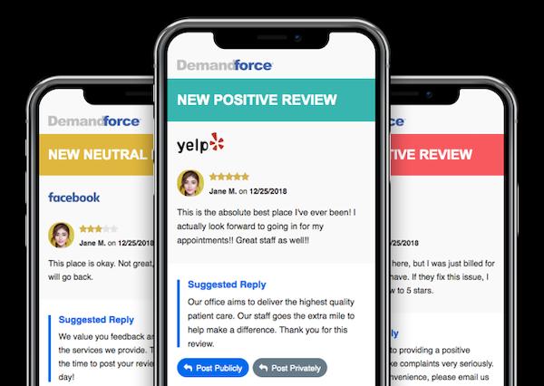 Demandforce review alerts