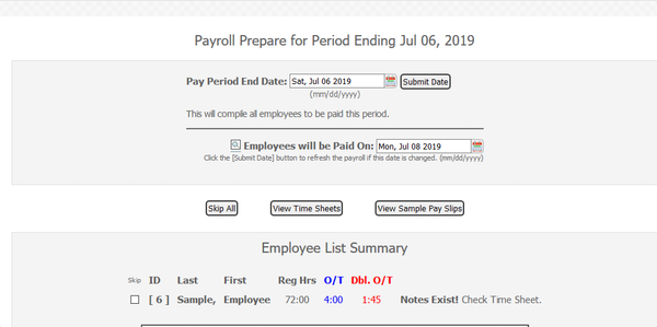 Payroll Connected review and finalize payroll