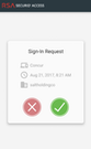 RSA SecurID Suite Sign-In Requests