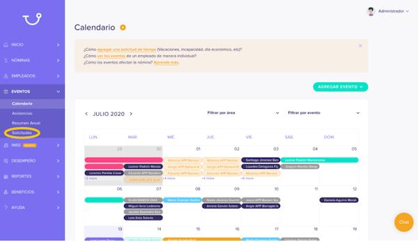 Runa event calendar