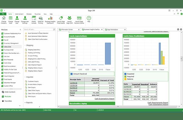 Sage 100cloud analytics