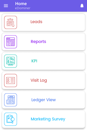 Expand ERP sales app home page screenshot