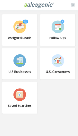 Salesgenie mobile dashboard