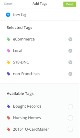 Salesgenie adding tags