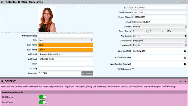 SalonIQ customer database