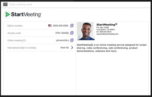 StartMeeting saved credentials