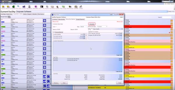 Storage Commander customer details