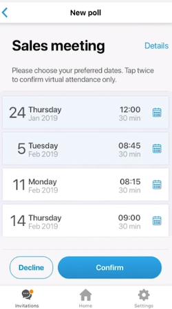 Scedule date calendar view