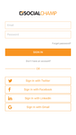 Social Champ application login