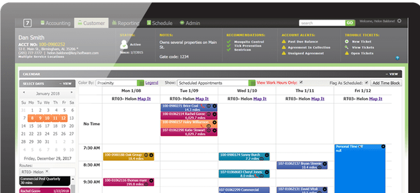 Key 7 Software scheduling calendar