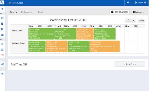 Scheduling Suite calendar