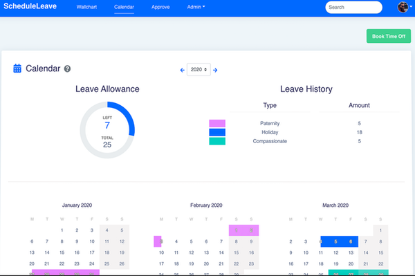 ScheduleLeave overall leave tracking