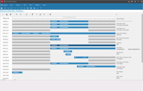 Infor CloudSuite Industrial (SyteLine) scheduling