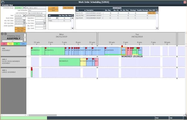 Work order scheduling