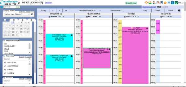 TheraManager scheduling
