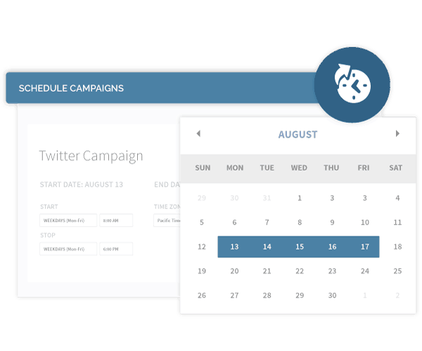 Scheduling campaigns