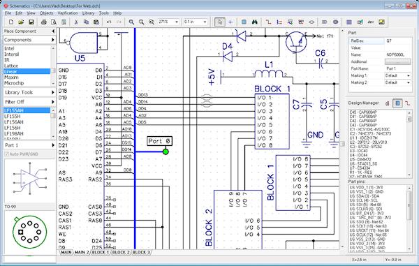 DipTrace capturing schematic data