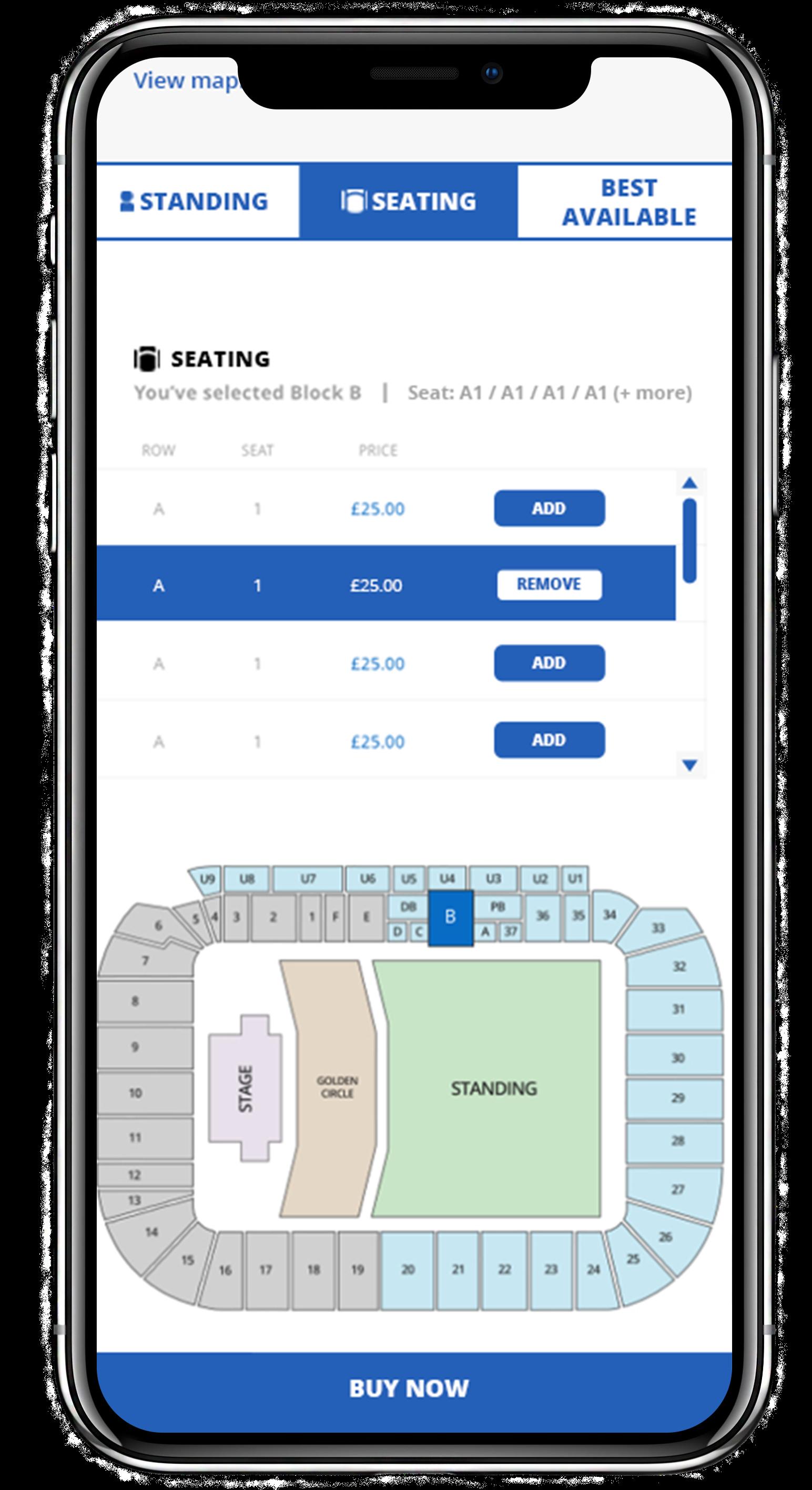 Select seats
