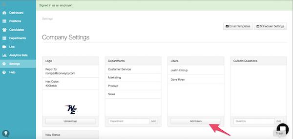 ConveyIQ settings screenshot