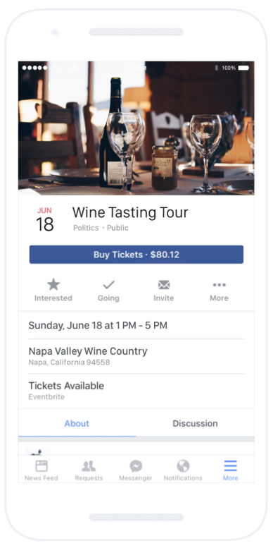 Facebook Event Page